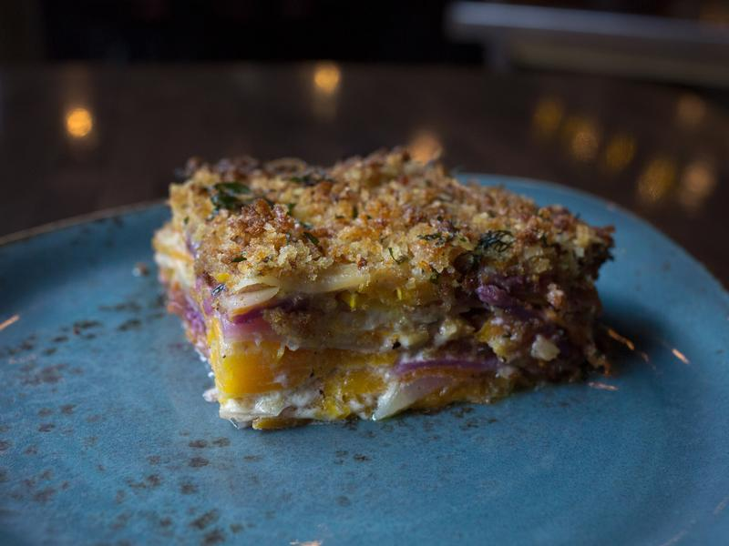 Chef Isabella created a healthier and more savory alternative to sweet potato casserole.