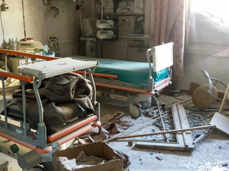 This month, the last four functioning hospitals in eastern Aleppo, including the one pictured above, were hit by airstrikes and ceased operations.