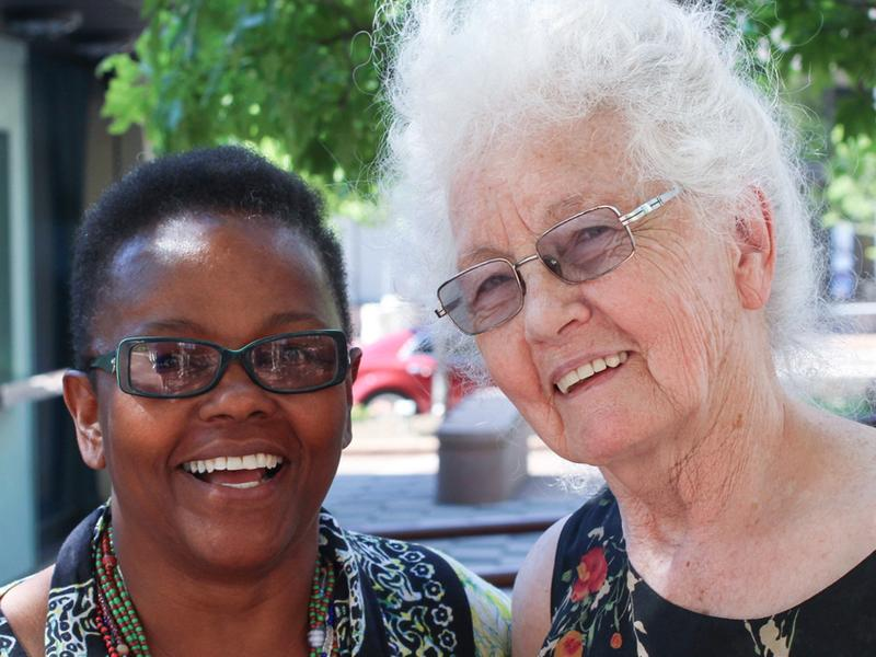 Leslye Huff, 66, and Mary Ostendorf, 79, in Cleveland, where they recorded their StoryCorps interview.