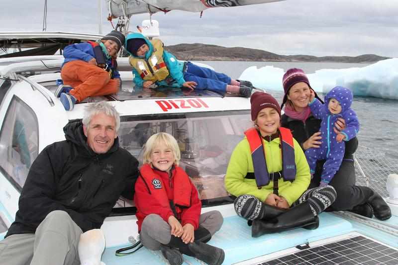 The Schwörer family on their boat Pachamama. (Courtesy TOPtoTOP)
