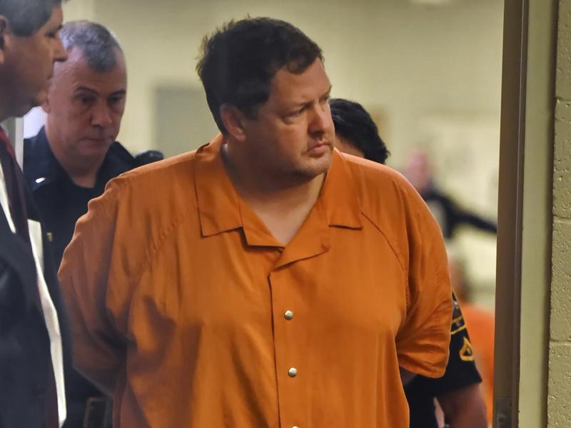 Todd Kohlhepp enters the courtroom for a bond hearing earlier this month at the Spartanburg Detention Facility in Spartanburg, S.C.