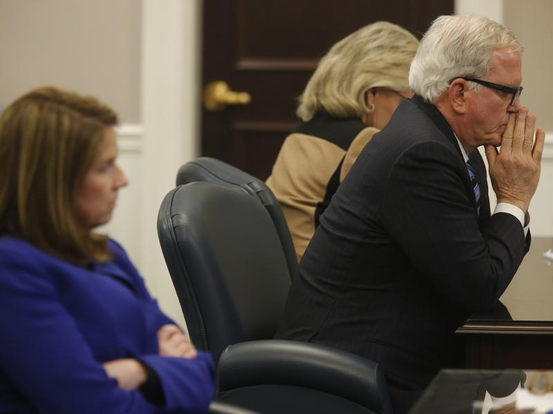 Andy Savage, defense attorney for former North Charleston, S.C., police Officer Michael Slager, awaits a verdict from the jury on Friday.