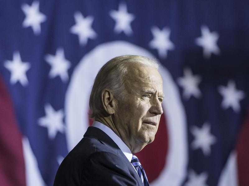 Vice President Joe Biden on the campaign trail for Democratic presidential candidate Hillary Clinton in Dayton, Ohio, in October.