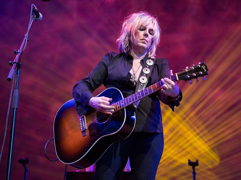 Lucinda Williams performs at Lincoln Center Out Of Doors.