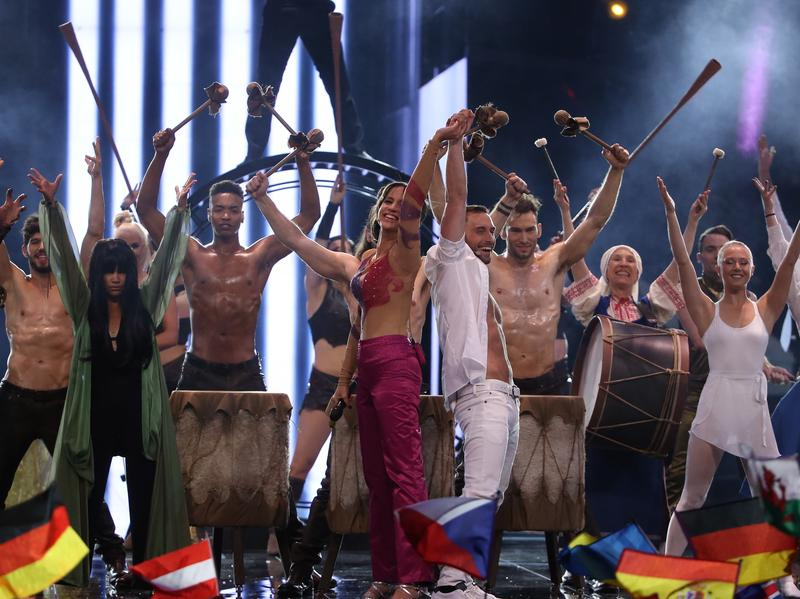 "Sweden performed ""Love, Love, Peace, Peace,"" a tongue-in-cheek musical tutorial for winning the Eurovision Song Contest."