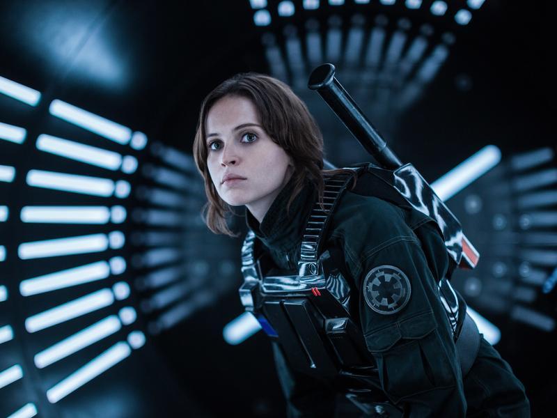 Felicity Jones plays Jyn Erso in <em>Rogue One: A Star Wars Story.</em>
