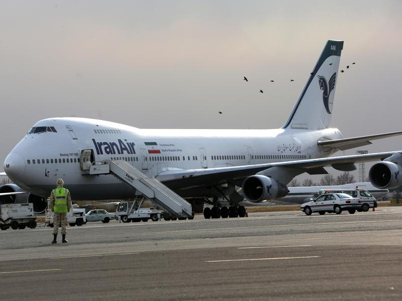 Iran Air has used Boeing 747 passenger jets for years — but their purchase was arranged before 1979's revolution. One of the planes is seen here at the domestic Mehrabad airport in Tehran in 2013.