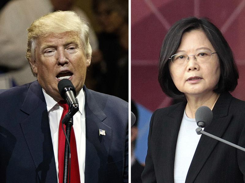 """After President-elect Donald Trump's conversation with Taiwan's President Tsai Ing-wen (right), and his subsequent suggestion that the One China policy could be reconsidered, a Chinese government spokesman warned that if the policy """"is interfered with or damaged, then the healthy development of China-U.S. relations and bilateral cooperation in important areas is out of the question."""""""