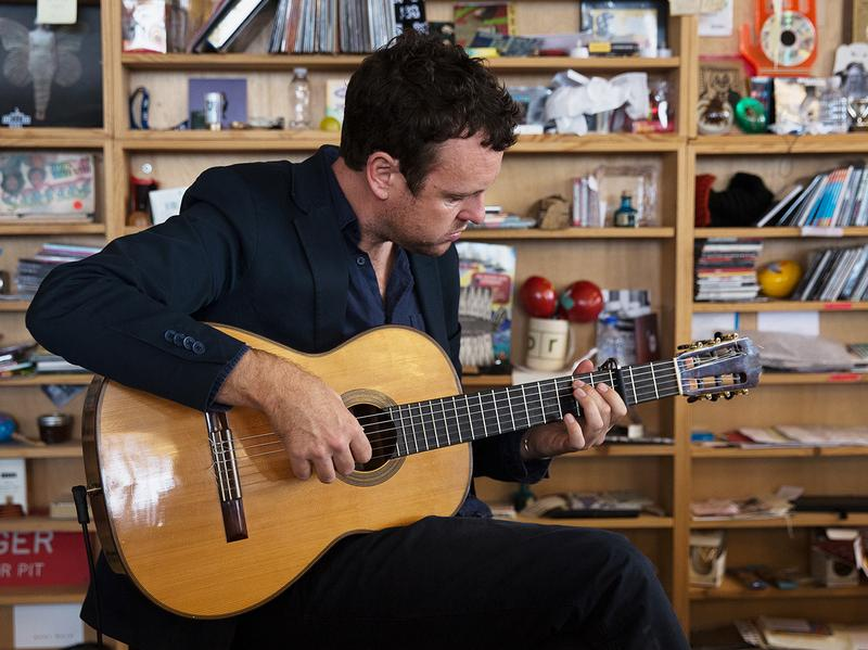 Derek Gripper performs a Tiny Desk Concert on Nov. 14, 2016. (Raquel Zaldivar/NPR)