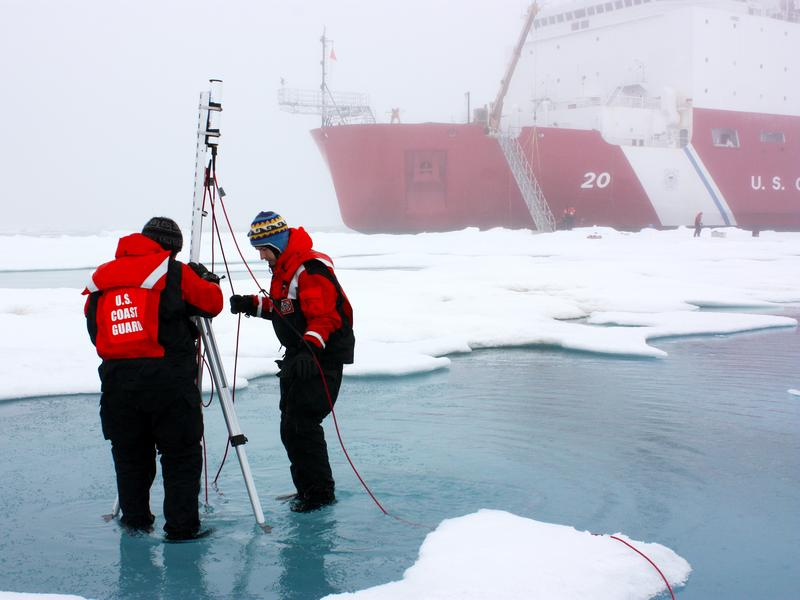 The U.S. government is a major contributor to climate research. It funds missions like NASA's 2010 ICESCAPE expedition to study the decline of Arctic sea ice.