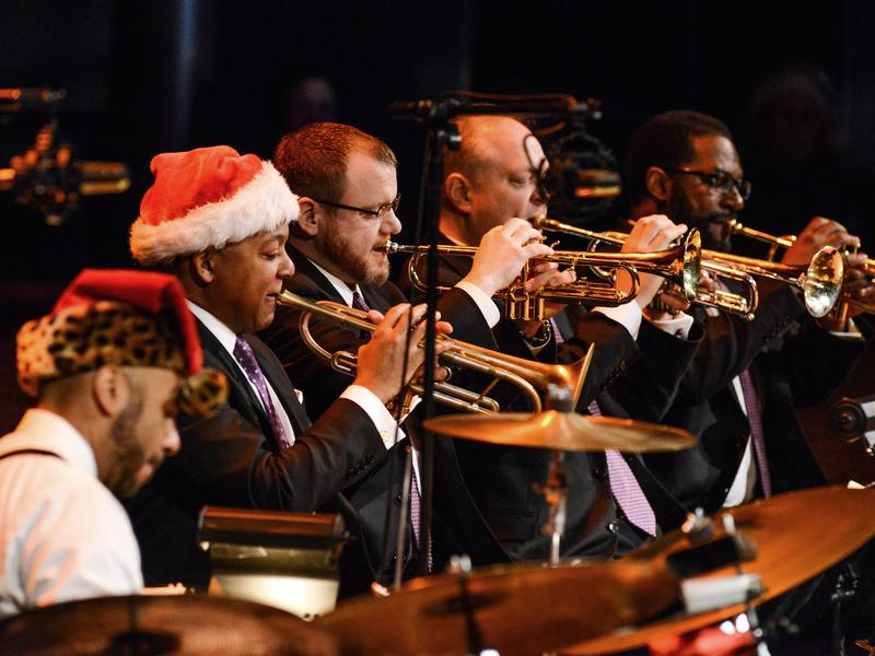 Wynton Marsalis leads the Jazz At Lincoln Center Orchestra.