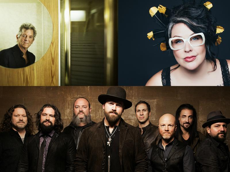 Clockwise from upper left: Rodney Crowell, Sarah Potenza and the Zac Brown Band.