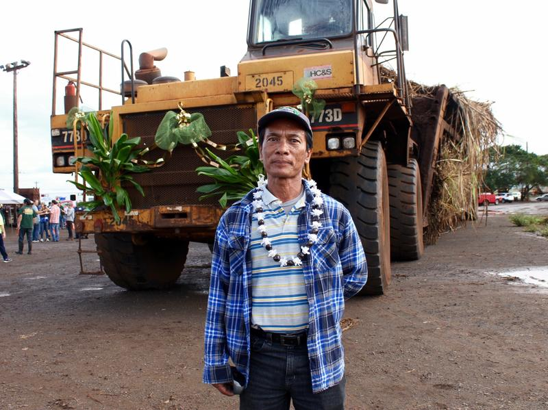 Fermin Domingo, 61, worked at HC&S for 40 years. He drove in the last truck hauler of sugar cane on the plantation's final day.