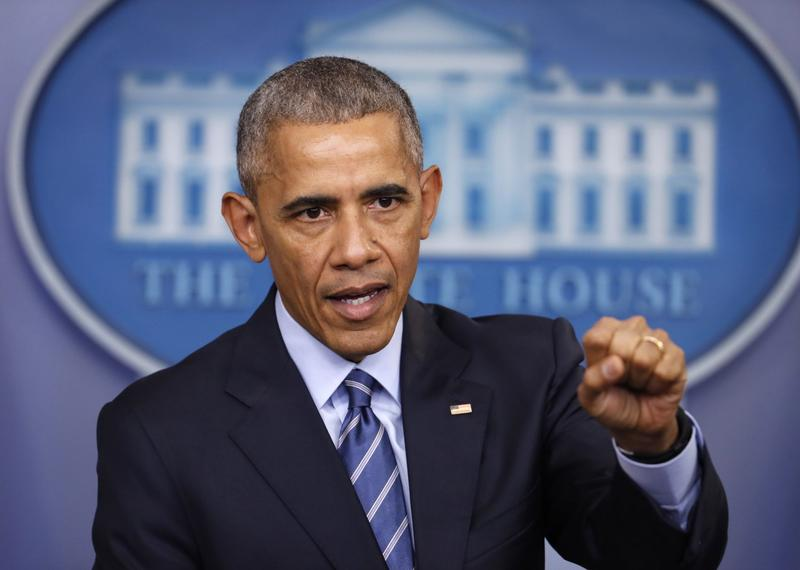 President Barack Obama speaks during a news conference in the briefing room of the White House in Washington, Friday, Dec. 16, 2016. (Pablo Martinez Monsivais/AP)
