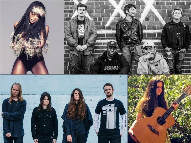 From top left, clockwise: D∆WN, Pure Disgust, Sarah Louise, Oathbreaker.