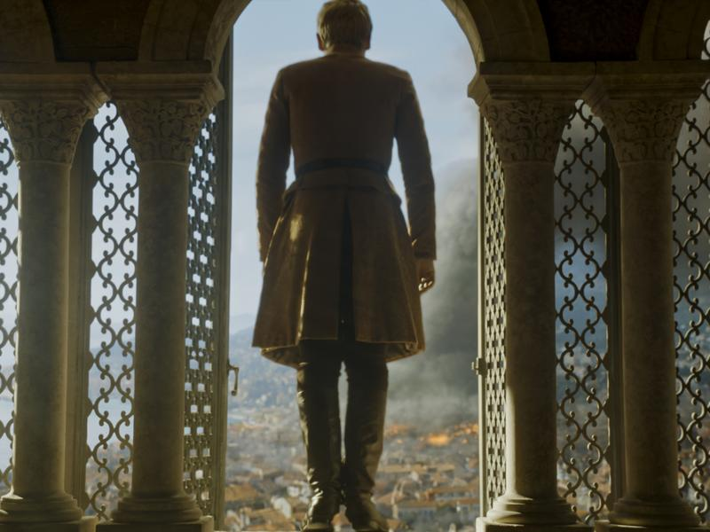 In the explosive finale of <em>Game of Thrones</em>' sixth season, King Tommen (Dean-Charles Chapman) takes it all in.