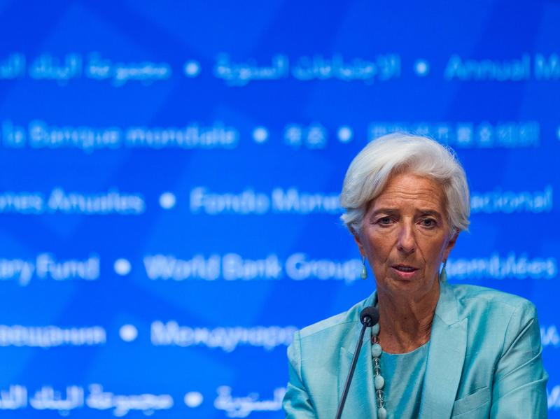 """Managing Director Christine Lagarde thanked the IMF executive board for the vote of confidence """"in my ability to do my job."""""""