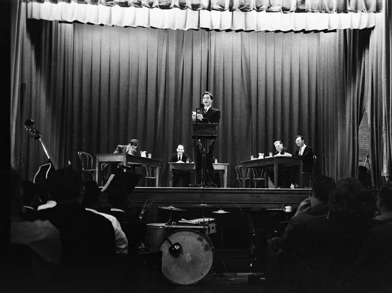 In December 1951, Norfolk Prison hosted its first international debate, against Oxford University. The debater pictured, Dick Taverne, went on to be a member of Parliament. When the prison hosted debates, church groups, local business owners, even judges and politicians would come and sit in the audience alongside inmates.