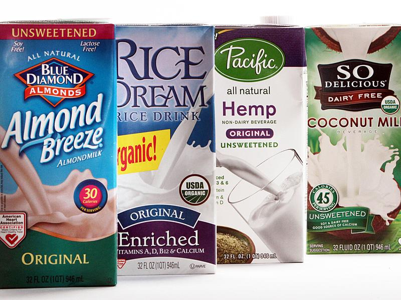 """Companies are selling """"milk"""" derived from a wide variety of plants. The dairy industry isn't happy about it."""