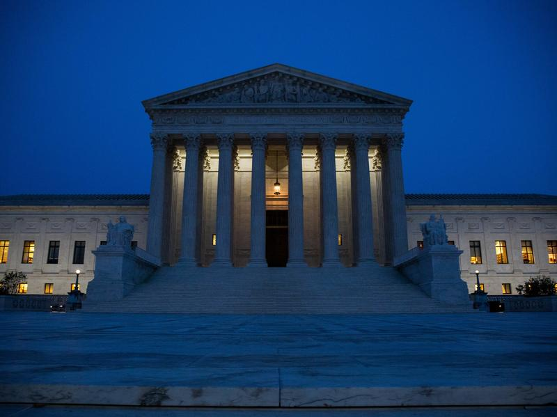 The Supreme Court, pictured on Election Night. Republican President-elect Trump now stands to reshape the court in his image, potentially for a generation.