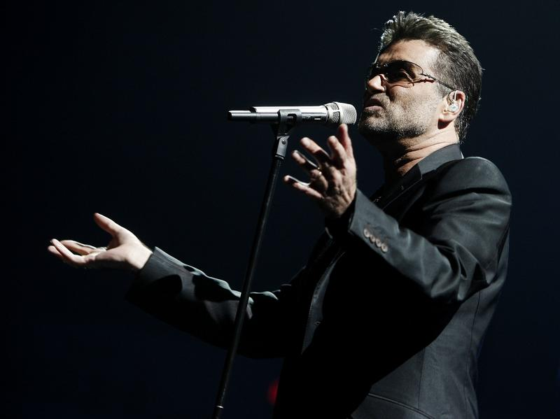 George Michael performs at the Sports Arena in San Diego, Calif.