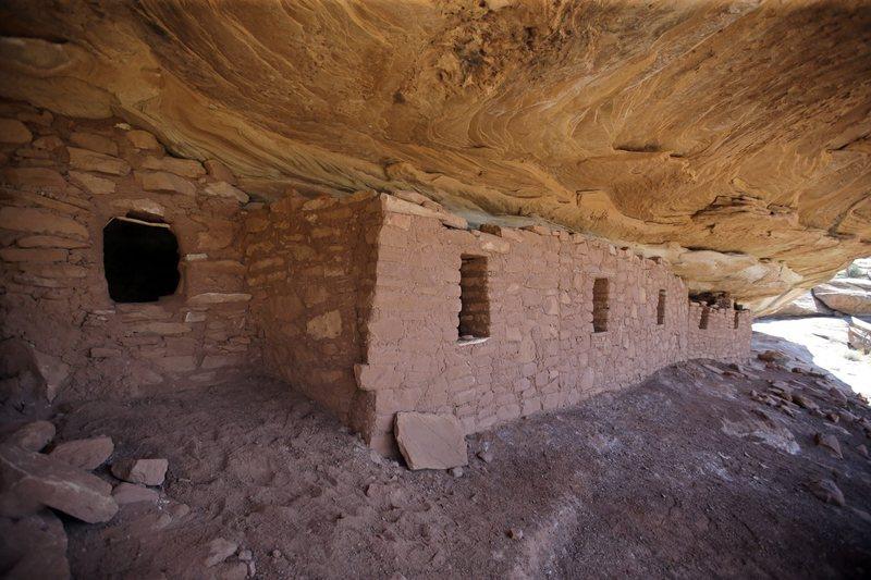 "The ""Moonhouse"" in McLoyd Canyon in July 2016 in the Bears Ears area near Blanding, Utah. (Rick Bowmer/AP)"