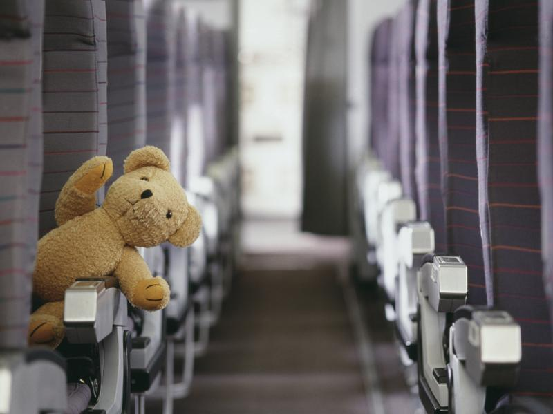 When Eleanor Dewald left her stuffed bear Teddy (that's not him pictured, but how adorable is that stuffed bear?) on a plane, he had an adventure of his own before making his way home.