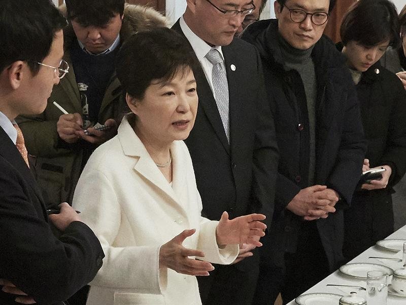South Korean President Park Geun-hye spoke to reporters Sunday and denied allegations of corruption and abuse of power.