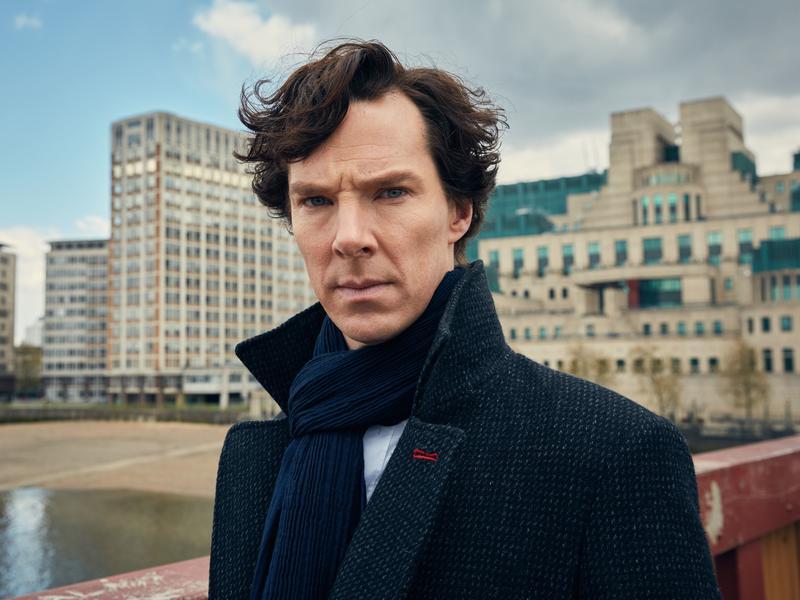 Benedict Cumberbatch plays the famed detective on <em>Masterpiece Mystery! Presents Sherlock. </em>