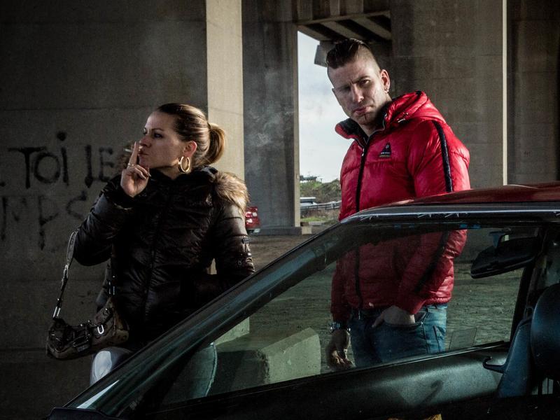 L to R: Sylvie (Veerle Baetens), Kenneth (Kevin Jannsens) and Dave (Jeroen Perceval) in <em>The Ardennes</em>.