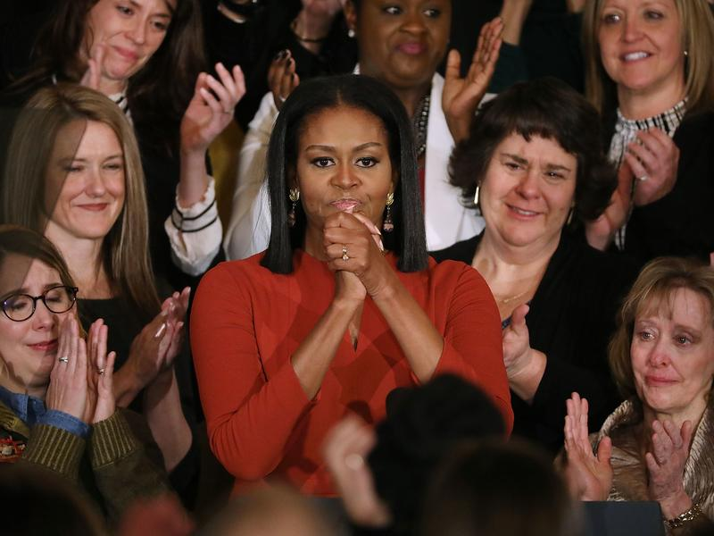 Michelle Obama delivers her final remarks as first lady during a Jan. 6 ceremony at the White House honoring the 2017 School Counselor of the Year.