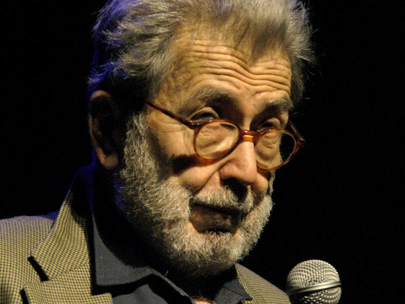 """Nat Hentoff during the annual """"A Great Night in Harlem"""" Benefit Concert at The Apollo Theater in New York City."""