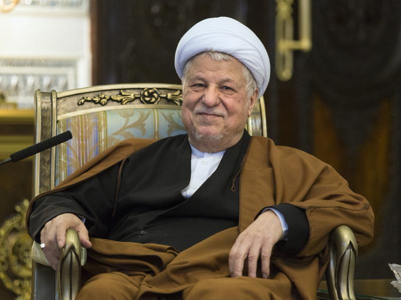Akbar Hashemi Rafsanjani, during a 2015 meeting with Germany's foreign minister in Tehran.