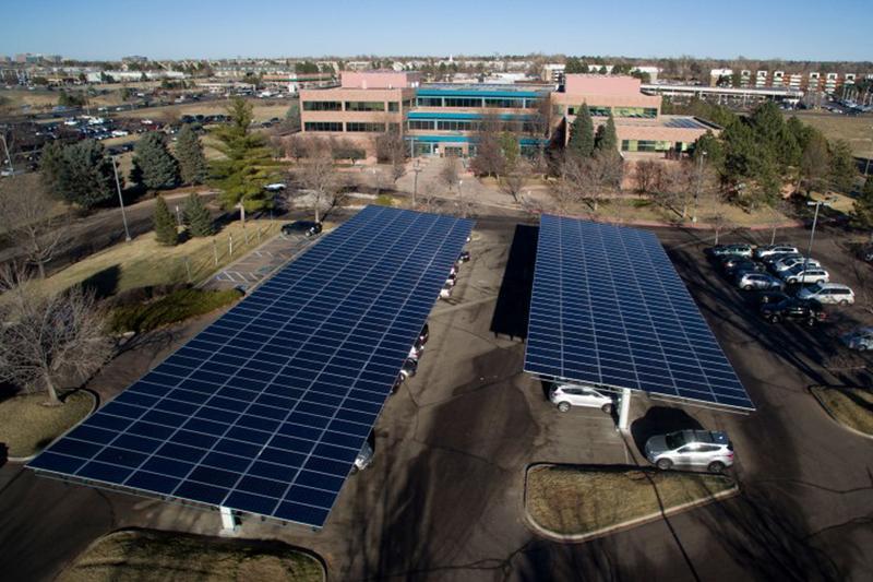 Seven of Kaiser Permanente's Colorado facilities, like their regional office on Dakota Ave, in Denver, Colo., have solar systems. (Courtesy Kaiser Permanente)