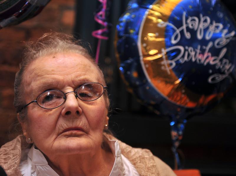 Veteran British war correspondent Clare Hollingworth, who broke the story that the World War II had begun, celebrates her 100 birthday during a party at the Foreign Correspondents' Club in Hong Kong in 2011. She celebrated her 105th birthday there this past October.