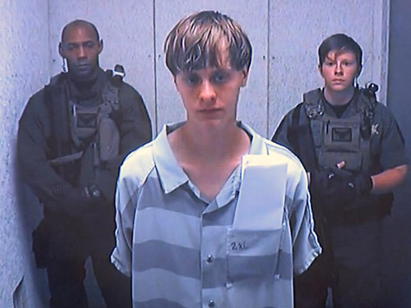Dylann Roof appears via video before a judge in Charleston S.C