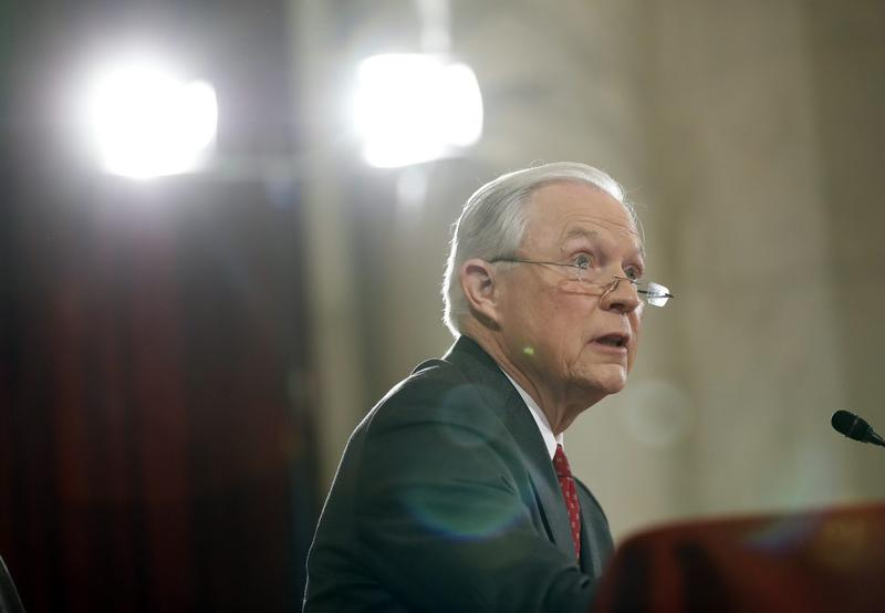 Attorney General-designate, Sen. Jeff Sessions, R-Ala., testifies on Capitol Hill in Washington, Tuesday, Jan. 10, 2017, at his confirmation before before the Senate Judiciary Committee. (Alex Brandon/AP)