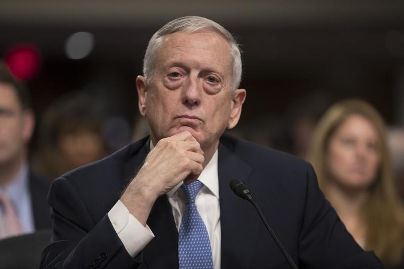 Defense Secretary-designate James Mattis listens to questions at his confirmation hearing before the Senate Armed Services Committee on Capitol Hill in Washington, Thursday, Jan. 12, 2017. (J. Scott Applewhite/AP)