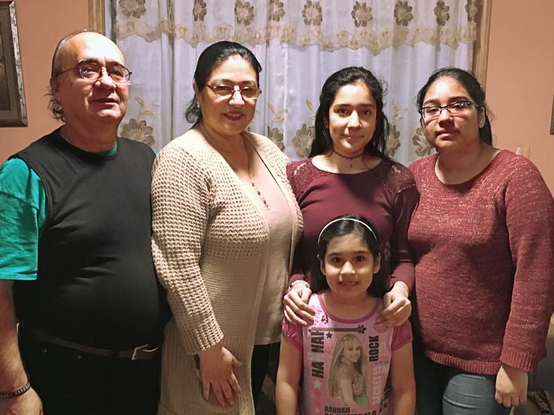 The Armas family is traveling to Washington, D.C., for an immigrant rights protest this weekend. Desiree Armas (right) and her parents are living in the country illegally.