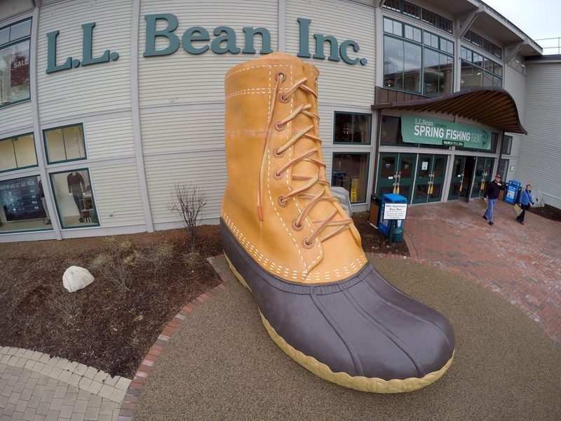 In this Wednesday, March 16, 2016 photo shoppers exit the L.L. Bean retail store in Freeport, Maine. (Robert F. Bukaty/AP)