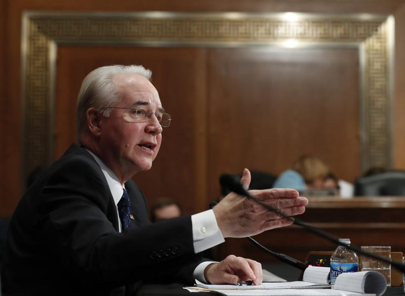 Health and Human Services Secretary-designate, Rep. Tom Price, R-Ga. testifies on Capitol Hill in Washington, Wednesday, Jan. 18, 2017. (Carolyn Kaster/AP)