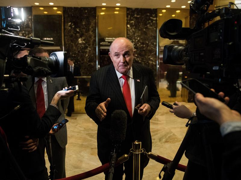 Former New York City Mayor Rudy Giuliani was named a special adviser on cybersecurity by President-elect Donald Trump. This position is likely to benefit his business.