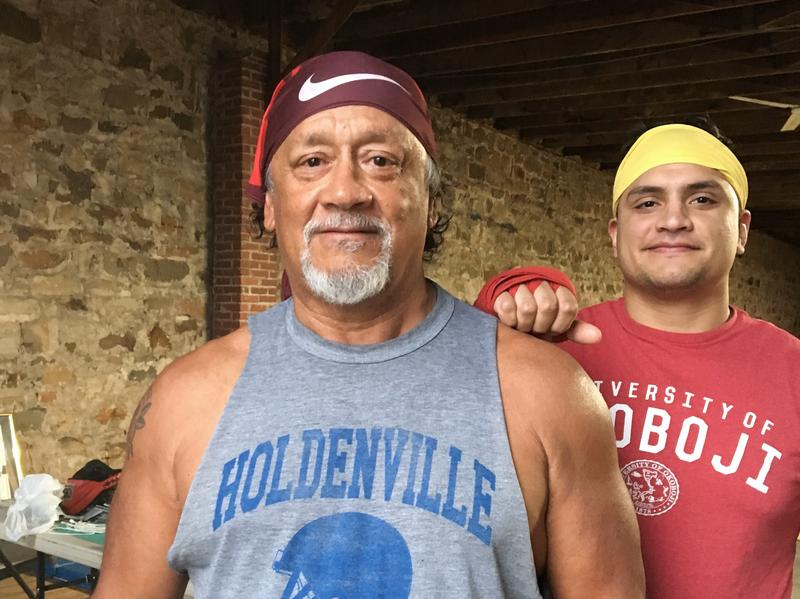 Brownie Harjo teaches martial arts in one of the oldest buildings in Holdenville, Okla.
