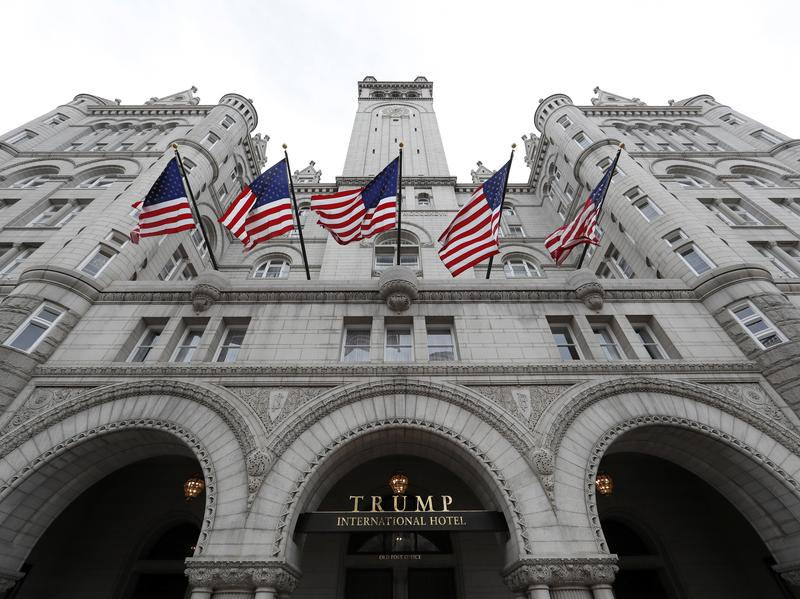 The 60-year lease Trump holds on his Washington, D.C., hotel is with the U.S. General Services Administration, which owns the building where the hotel is located.