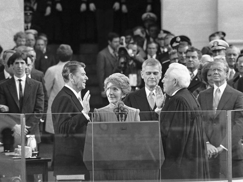President Reagan is sworn in at the U.S. Capitol in Washington D.C. on Jan. 20, 1981.
