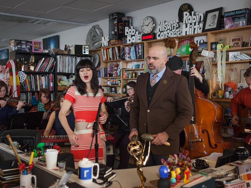 Miramar performs a Tiny Desk Concert on Jan. 11, 2017. (Claire Harbage/NPR)