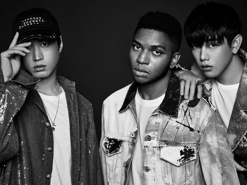 """Gallant (center) collaborates with Korean musicians Tablo (left) and Eric Nam on the new song """"Cave Me In."""""""