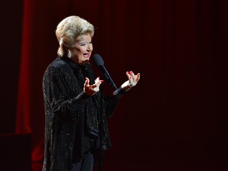 Marilyn Maye on stage at Dizzy's Club Coca-Cola.