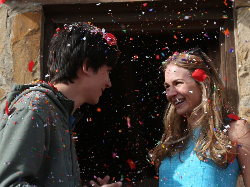 The Boy Who Fell to Earth: Gardner (Asa Butterfield) brings Tulsa (Britt Robertson) into his orbit in <em>The Space Between Us</em>.