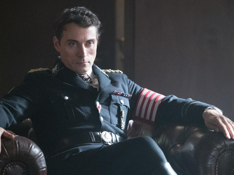 Brooding? Just a bit. Rufus Sewell stars as American Nazi leader John Smith in <em>The Man in the High Castle.</em>